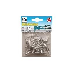 Blind Rivets, 4.8 mm, 50 Pieces