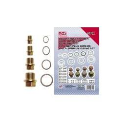 534-pcs. Oil Drain Plug Screws and Aluminum O-Ring Assortment